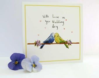 WC03 | Love Birds Wedding Card