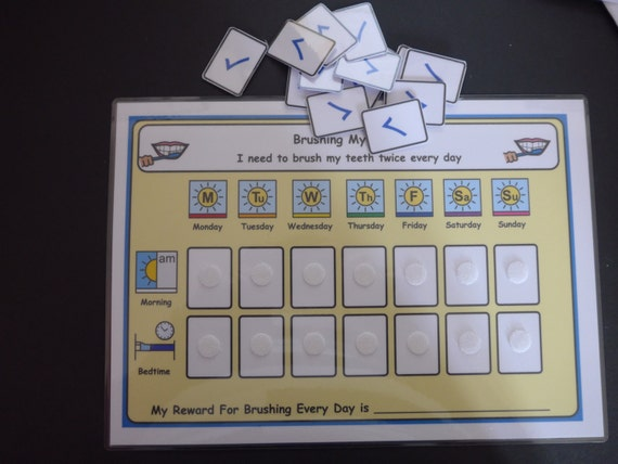 Brushing My Teeth Reward Chart-Ideal for Pre-Schoolers//ASD//Learning Difficulty
