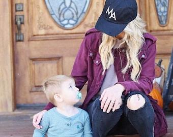 Distressed MA Baseball Hat, Mom Hat, Mama Hat, Mom Baseball Hat, #MOMLIFE, Mom, Mama, Mom Life, Mother Hat