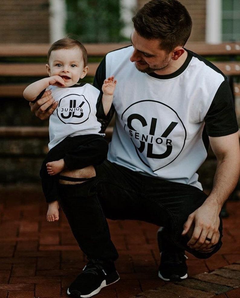 b33fb14e4 SR and JR shirt Senior and Junior Matching Father ans Son   Etsy
