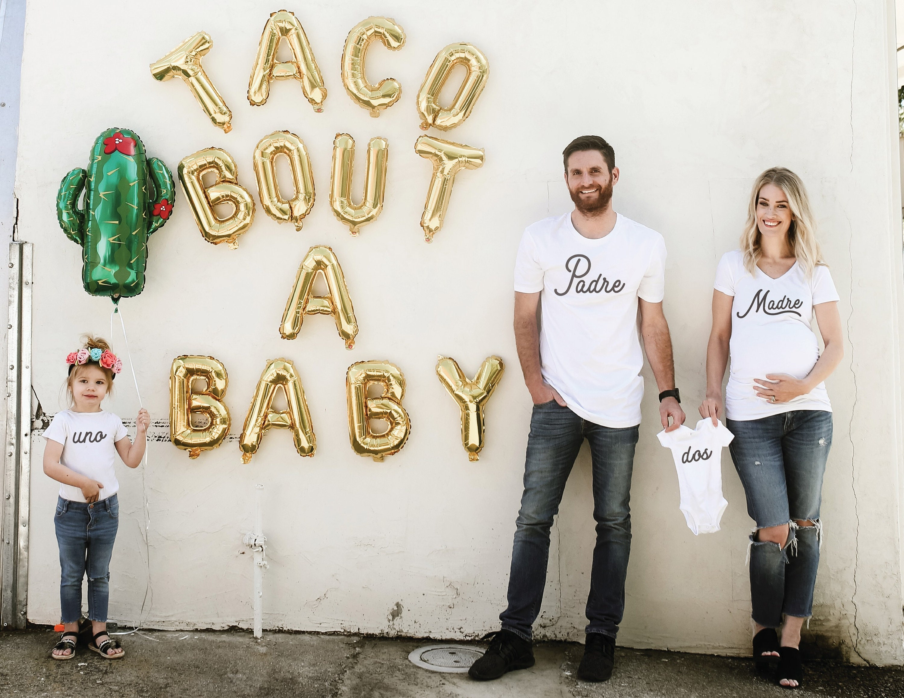 Pregnancy Announcement Shirts For Couples Madre And Padre Etsy