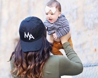 Distressed MA Baseball Hat, Mom Hat, Mama Hat, Mom Baseball Hat, #MOMLIFE, Mom, Mama, Mom Life,Mom Gift, Mama Gift