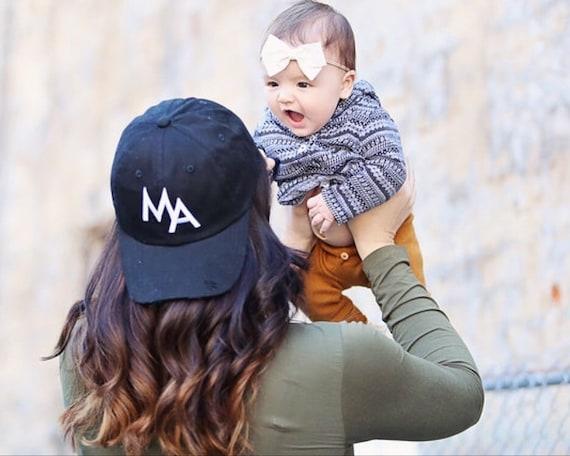 da80d060a Distressed MA Baseball Hat Mom Hat Mama Hat Mom Baseball | Etsy