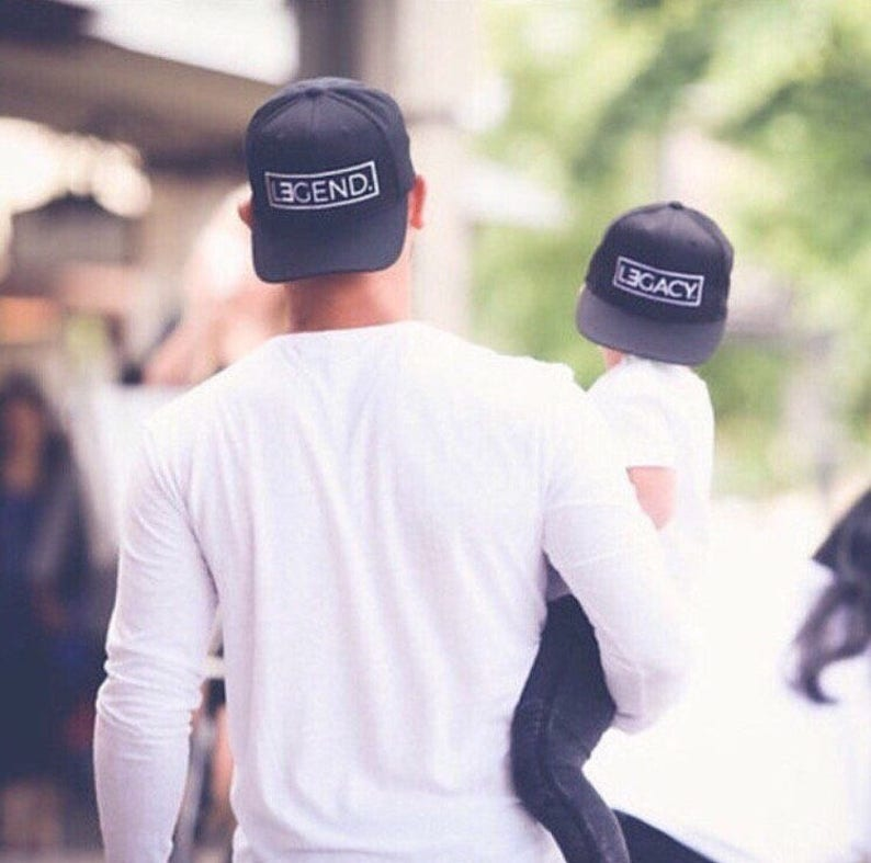 0c5775a1dec Father and Son Hats Legend and Legacy Hats Fathers Day Gift