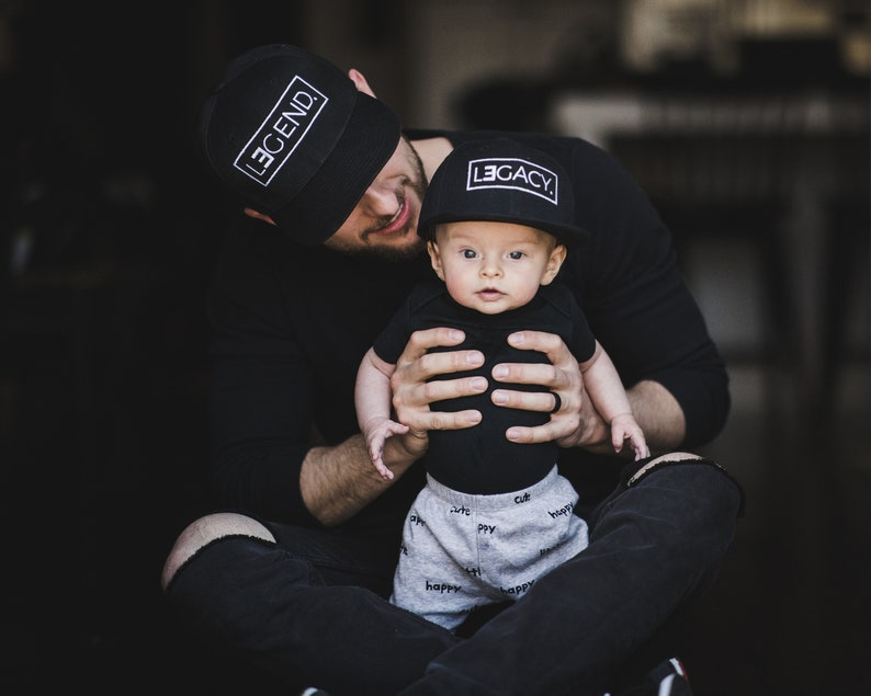a6ed35e0ed0bc Father and Son Hats Legend and Legacy Hats Gifts for Dad | Etsy