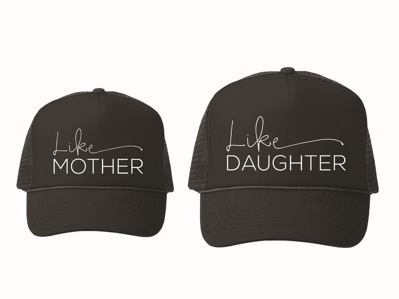 ac79c45ba5eab Like Mother Like Daughter Hat Set Mommy and Me Mommy and Me