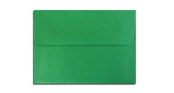 20 holiday green envelopes in a7 a6 a2 a1 sizes etsy