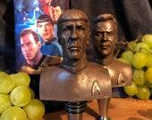 Spock, Captain Kirk  Star Trek 2 Wine Stopper Combo, geek wine gift, bottle stopper, wine enthusiast, gifts for wine lovers, geek wine gift
