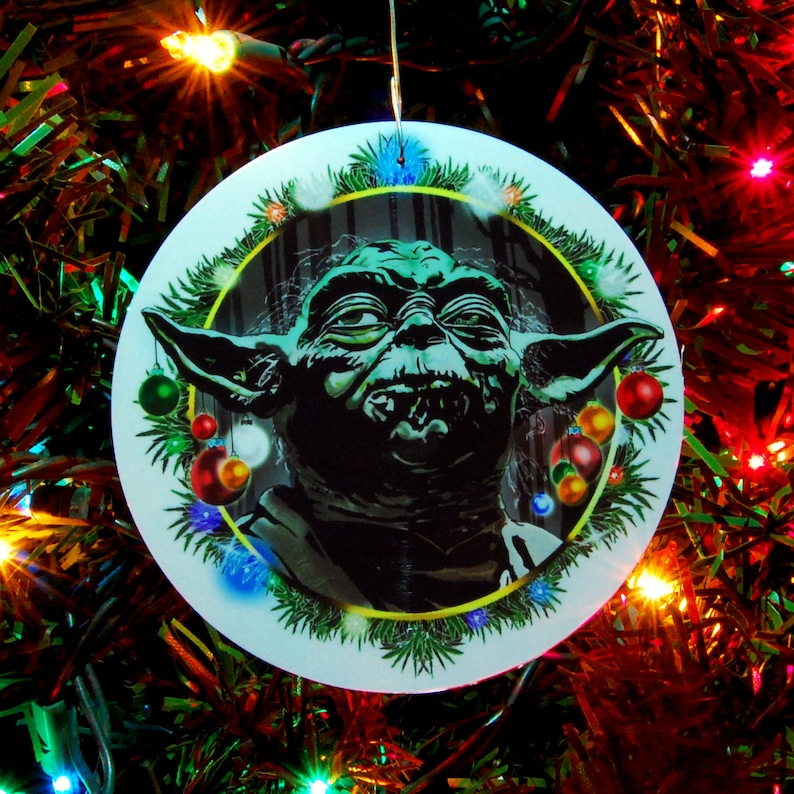 Yoda Star Wars Christmas Ornament Etsy
