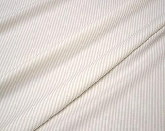 fabric pure cotton roman's stripe beige white 2,5 mm small stripe