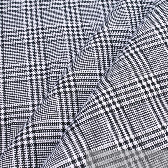 Fabric pure cotton denim Prince of Wales check black white | Etsy on treasury check, bank of america check, anatomy of check, suntrust check, starter check,
