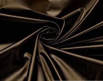 Fabric nylon polyester plain dark brown breathable soft wind impervious