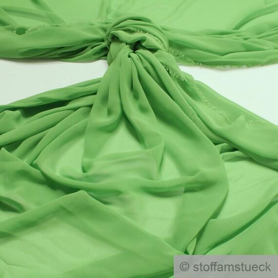"""1 mètres noir en polyester doux mousseline tissu.. 60/"""" large"""
