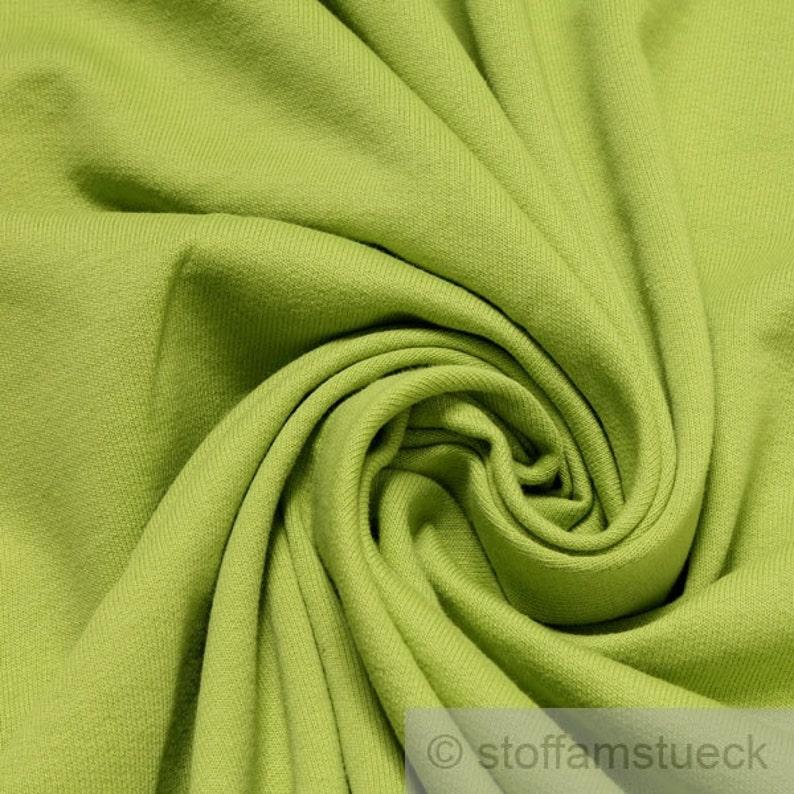 Fabric pure cotton single jersey lime green roughened sweatshirt