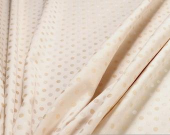Fabric Trevira® CS satin little dots cream champagne not flammable