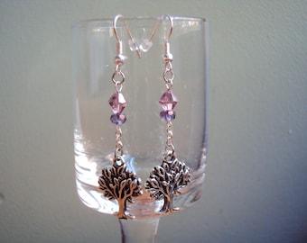 Purple Crystal Tree of Life Dangles