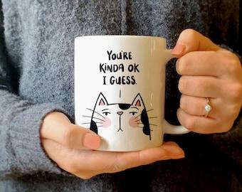 Coffee Cup Mug Travel 11 15 oz Sweet And Sassy Cat Kitten Attitude