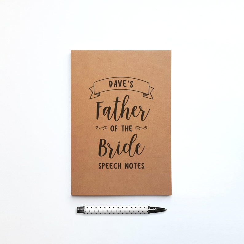 Personalised Father of the Bride Gift Speech Notebook for image 0