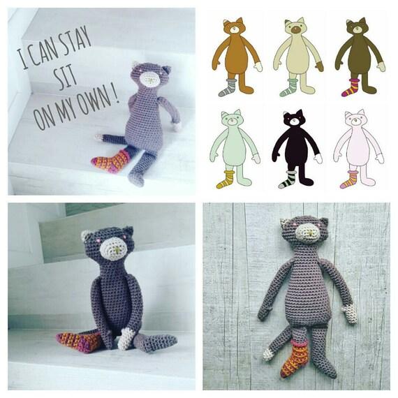 Crochet PATTERN ID 022 Oscar the Cat amigurumi baby   Etsy