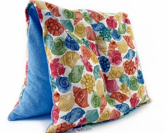 Large Heating Pad / Microwavable Heat / Two Sections / Sea Shells / Weighted Corn Bag / All Natural Pain Relief