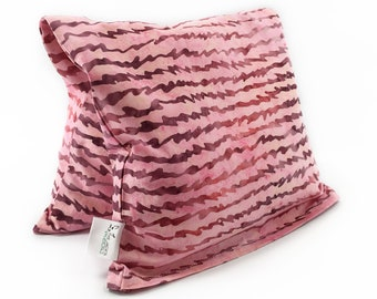 Large Corn Pack/ Microwavable Heating Pad / Cold Freezer Corn Bag / Pain and Inflammation Relief / Pink Mauve/ Love Letters