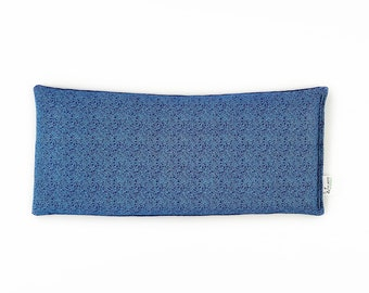 Small Microwavable Corn Bag / Heat Pad / Cold Pack / Blue / Tiny Vines