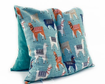 Large Original Corn Bag Heating Pad / Cold Ice Therapy / Back Pain / Sheet Warmer / Foot Warmer / Teal Green / Mama Llamas