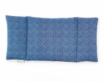 Eye Pillow / Three Sections / Warm Compress / Cold Pack / Migraines /  Tension / Blue / Tiny Vines