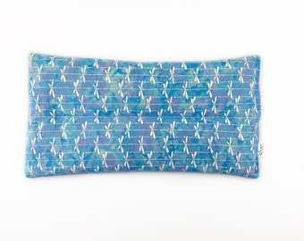 Large Corn Bag Heating Pad / Microwave Heating Bag / Ice Pack / Herbal Aromatherapy / Lower Back Pain / Dragonflies / Blues and White