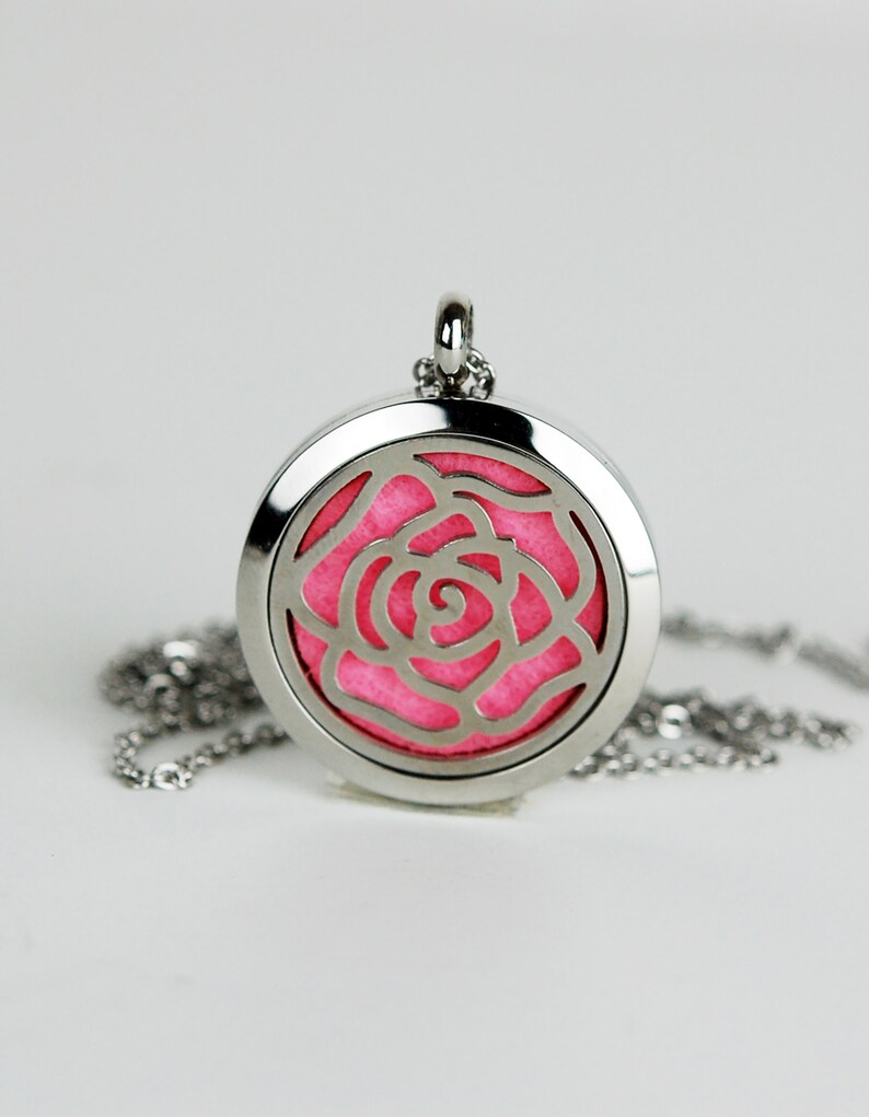 Sweet Cottage Rose Aromatherapy Pendant