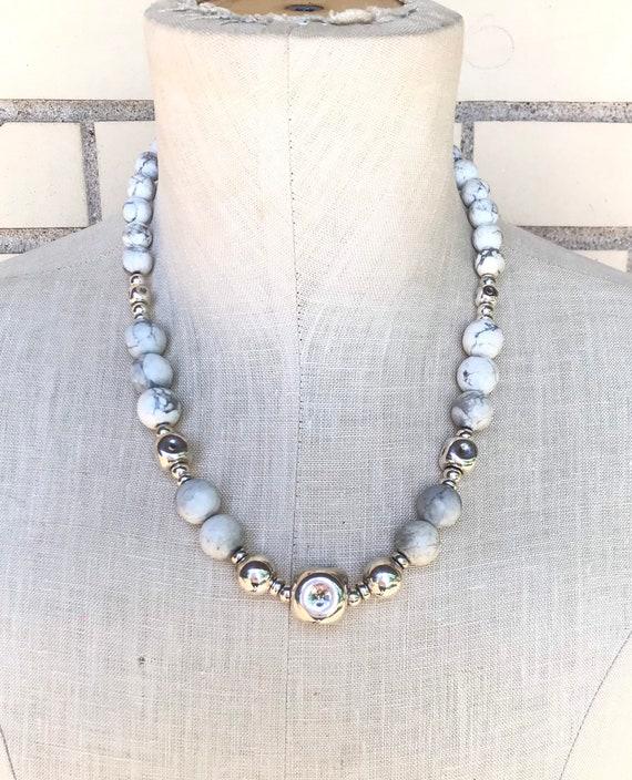 Vintage Sterling Silver Free Form Necklace Fine Jewelry Boho Hippie Avant Garde