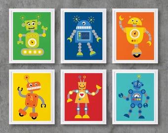 Affiche robot | Etsy