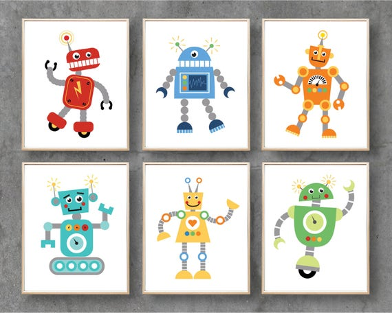 picture relating to Robot Printable known as Robotic Printable Artwork, Robots Electronic Printables, Nursery Print Downloadable Electronic Artwork Poster Print, Boy or girl Boy Space Decor / Fast Down load