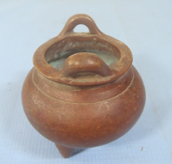 Fine Miniature Bronze Tripod Incense Burner Mark Retired c.early 1940s