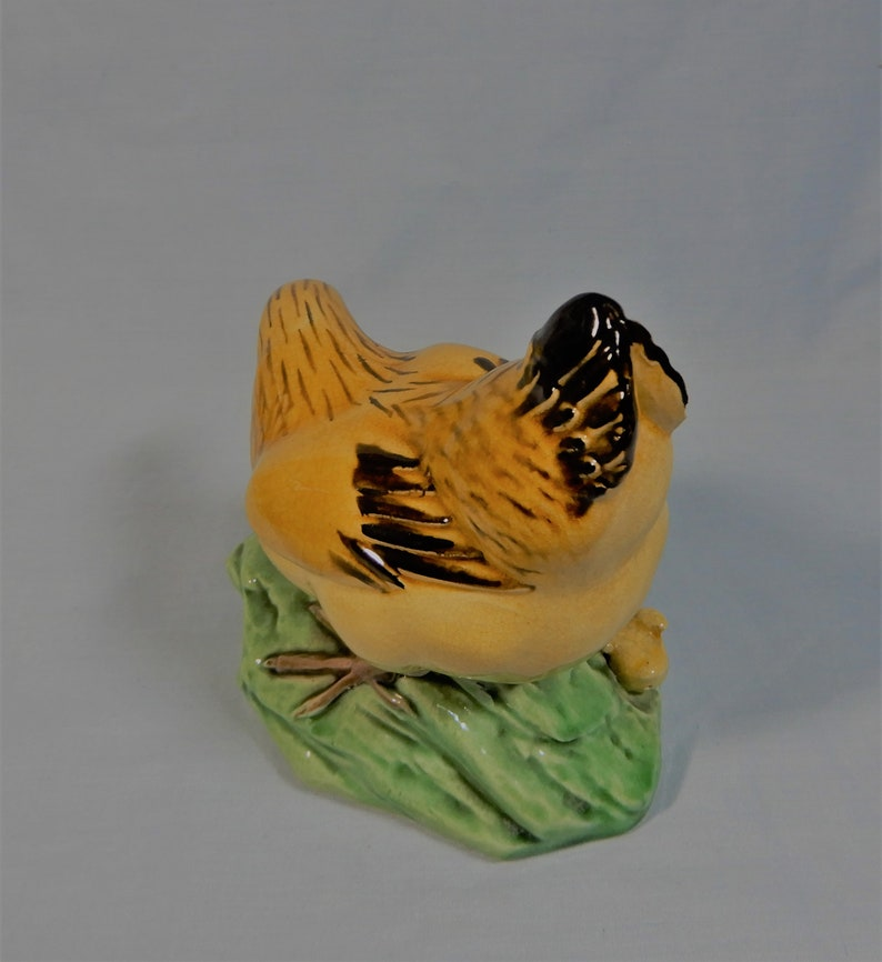 Antique Chinese Republic Period porcelain chicken family hand crafted retired