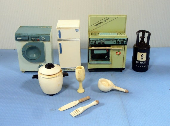 Kühlschrank Puppenhaus : Puppenhaus miniatur küche set kühlschrank backofen