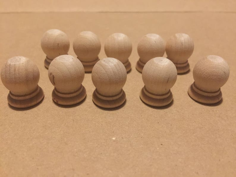 Wooden Finial Dowel Caps Decorative Caps Charger Feet Plate Feet Quantity Of 10