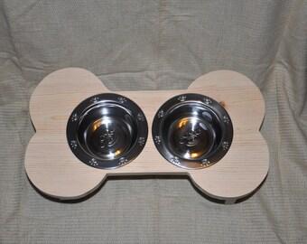 Elevated dog bowl - Dog bowl - Dog feeder - bowl holder - unfinished
