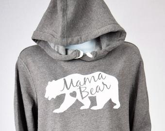 Mama Bear Hooded Pullover Dress