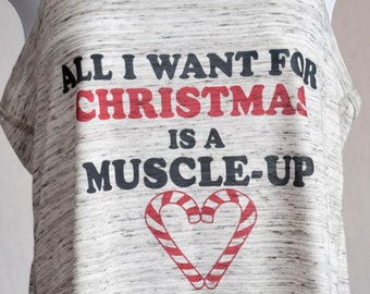 All I want for Christmas is a muscle-up-Sublimated on White marble.