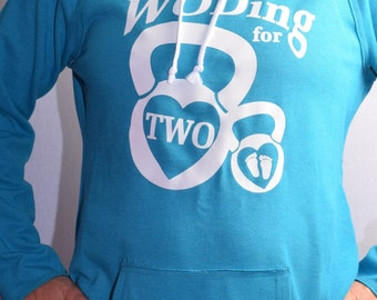 Woding for Two Hooded Pullover Crossfit Maternity