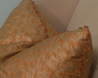 Oversized Throw Pillow made with Fortuny Block Print Fabric