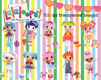 40 Lalaloopsy Doll Images at 300dpi Resolution Digital Clipart ~ High Quality ~ Lalaloopsy Birthday Party