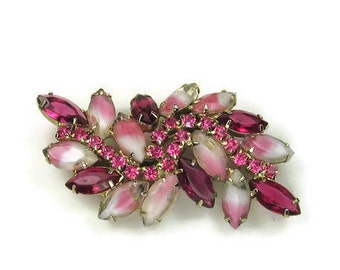 Juliana Pink Rhinestone Brooch