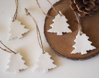 Christmas decorations - Set 5 Christmas gift tags - Christmas ornaments - Minimalist Christmas tree decor - Nordic Christmas decoration