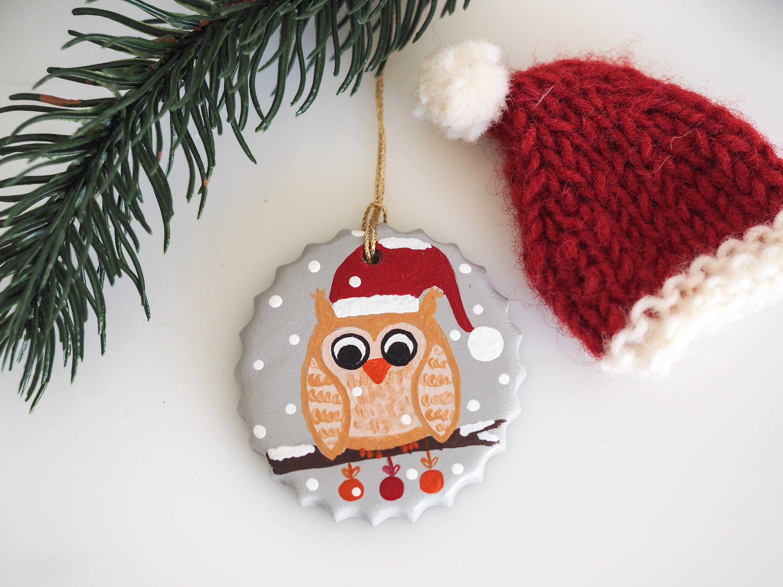 Owl Ornament Christmas Ornament Owl Christmas Decoration Owl