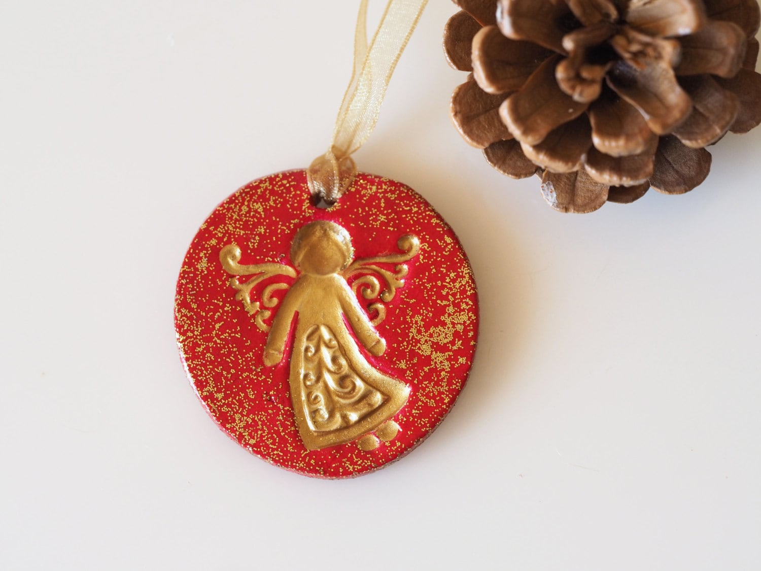 Angel Christmas Ornament Gold Angel Christmas Decoration Blac