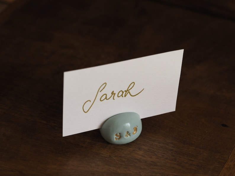 Mint green wedding place card holders Wedding table decor Wedding table number holder Personalized wedding decor Mint wedding favors