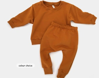 kids lounge set, baby tracksuit, baby sweatshirt and joggers set, unisex kids clothing, baby winter clothes 0-3yrs