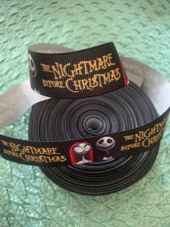 Night Before Christmas Crossgrain Ribbon 38mm Wide New Per Mtr